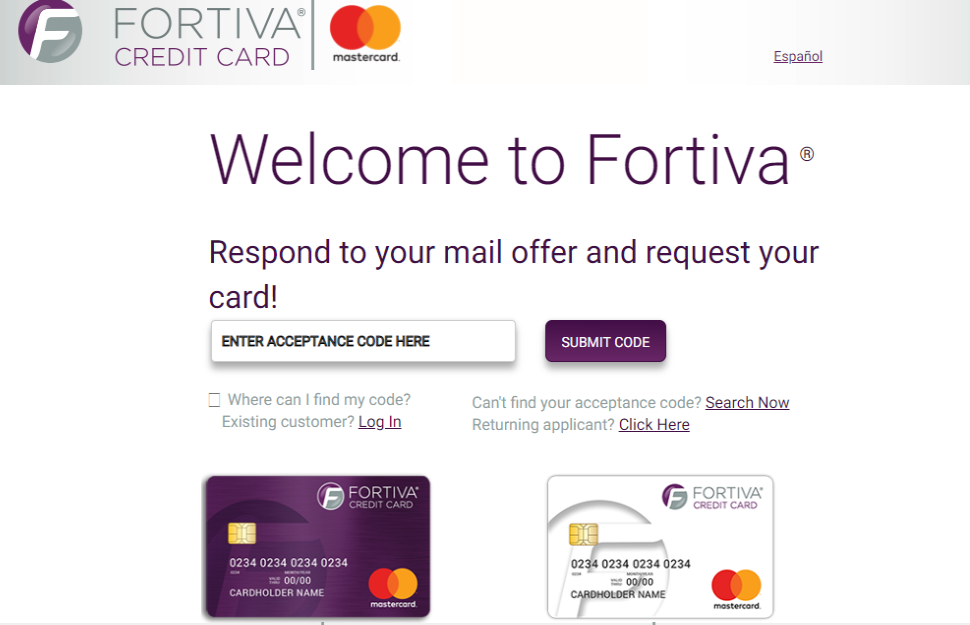 Fortiva MasterCard credit card apply