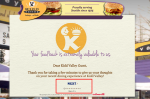 About Kidd Valley Guest Survey
